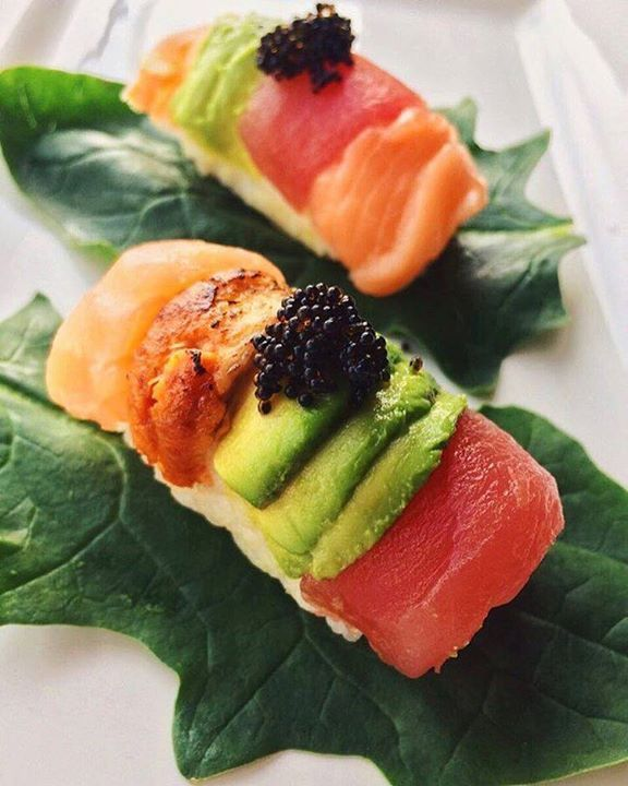 Rainbow nigiri sushi, awesome!  Made by @eljanmammadli  Make Sushi http://ift.tt/2pj3kqR