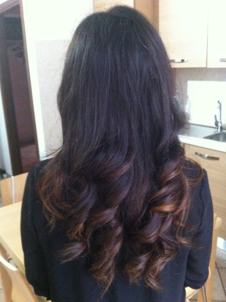 My long curly hair... Brown hair