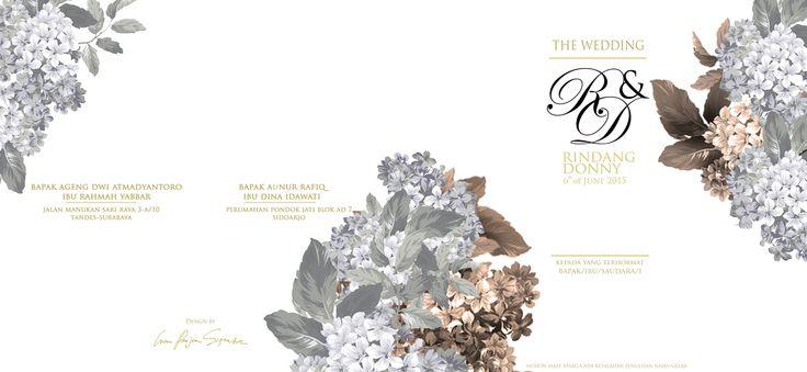 wedding invitation envelope design for Rindang & Donny