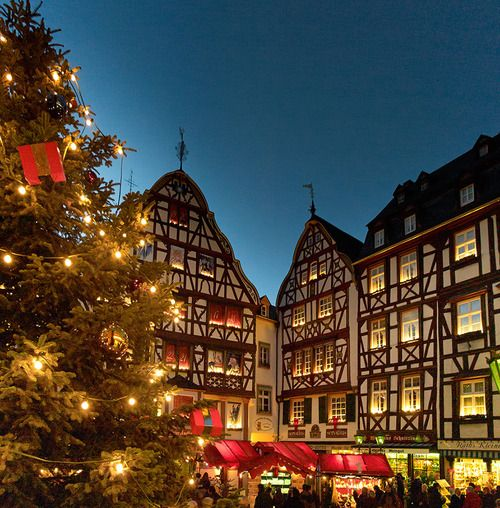 We lived in Germany near the Mosel - stationed at Hahn AFB - it really was this beautiful - - click on link to see more - http://www.youtube.com/watch?v=ahy3IskYhag - - Weihnachtsmarkt in Bernkastel-Kues