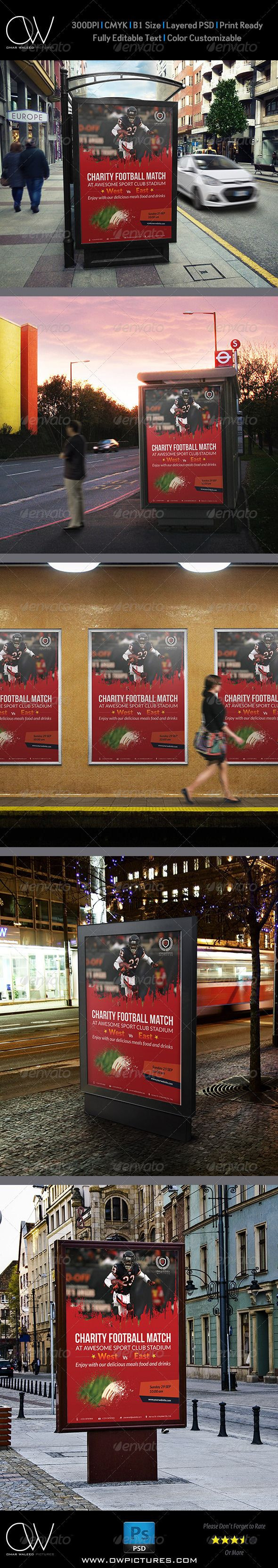 Football Flyer Charity Poster Template