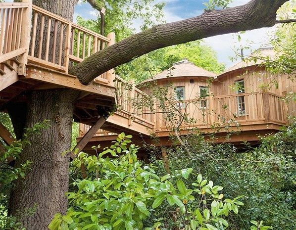 Harptree Court may be a grand country house, but in contrast to most lavish estates, here guests prefer to spend their night in the treehouse rather than the master suite.