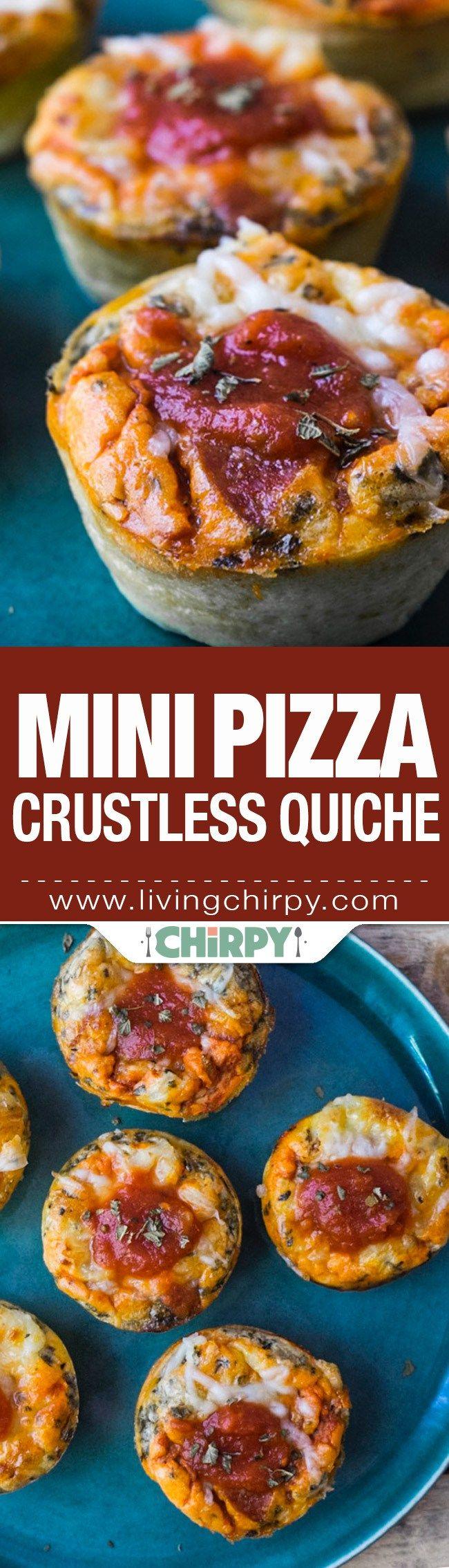 Mini Pizza Crustless Quiche