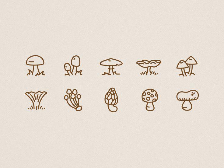 Icons-autumn-mushrooms