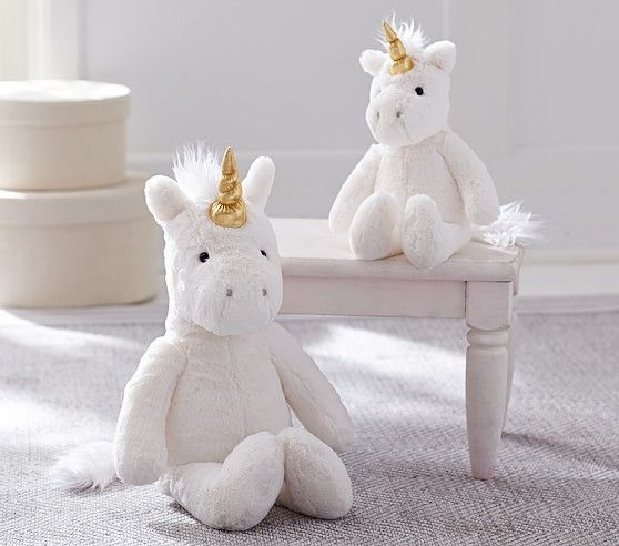 Unicorn Faux Fur Plush Collection | Pottery Barn Kids