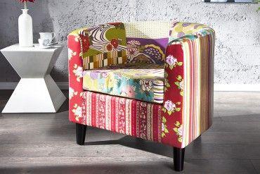 Design Patchwork Clubsessel IBIZA mehrfarbig Sessel