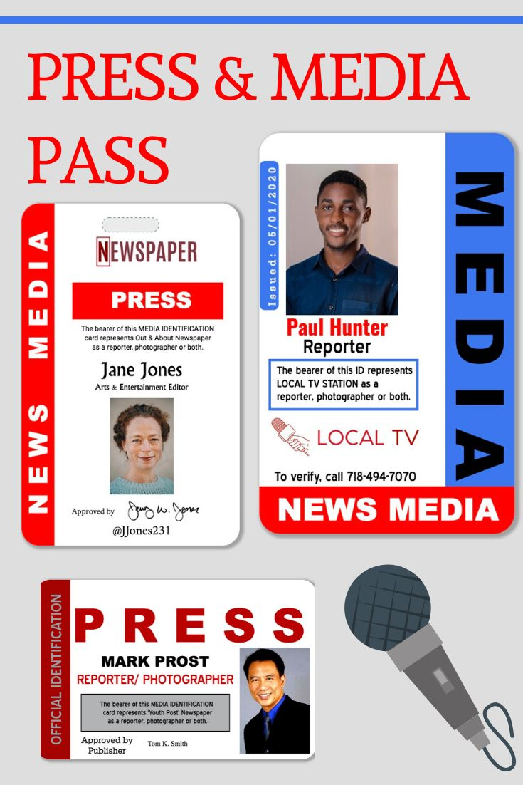 Press Pass Badges Www Easyidcard Com Id Card Template Employee Id Card Card Templates