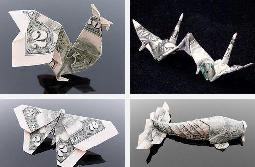 子供の頃に誰もが遊んだことのある「折り紙」ですが、ここまでやると立派なアートですね。  お札で折ってしまったものも。。 もっと見たい方はこちらもどうぞ Money Origami トイレットペーパーも折ってしまってます。 折り紙の起源は諸説あるようですが、日本では独自に発達した伝統的な遊びのようです。折り鶴なんかは日本古来のものですが、開国時にヨーロッパから伝わったものもあり、だまし舟や紙飛行機はヨーロッパ伝来のものだそうです。