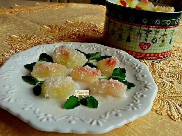 Zselé cukorka görögdinnye kéregből