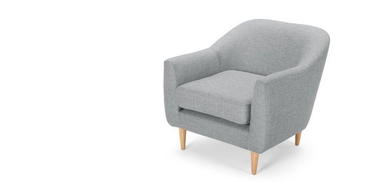 Tubby fauteuil, zachtgrijs | made.com