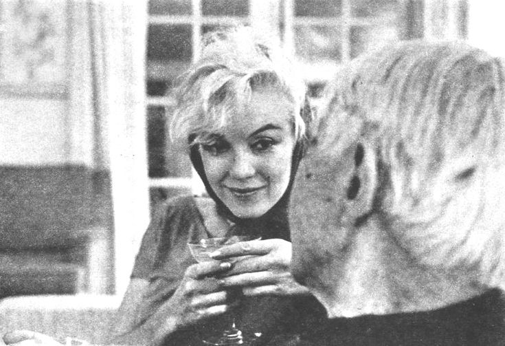Marilyn Monroe and Carl Sandburg  by Arnold Newman