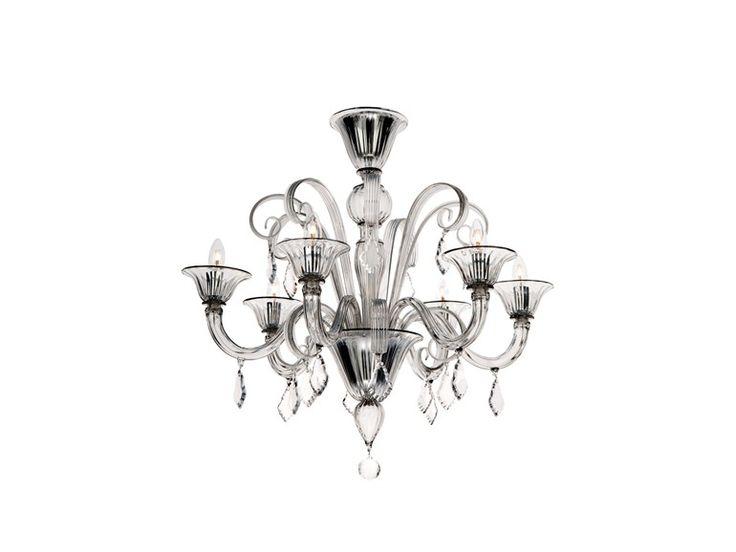 Araña de luces de vidrio de Murano Colección Flanelle by Veronese | diseño Veronese  sc 1 st  Pinterest & 89 best light images on Pinterest | Chandeliers Chandelier and ...