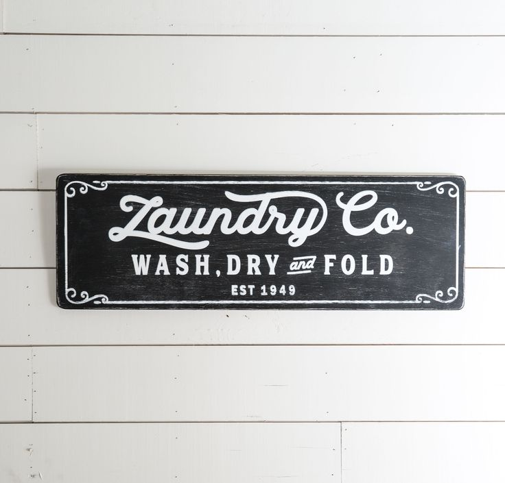 """""""Laundry Co."""" Wooden Sign - Magnolia Market 