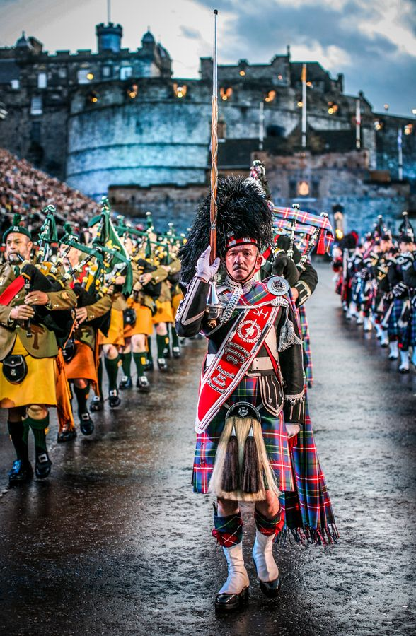 The Royal Edinburgh Military Tattoo, Scotland.  One of the most beautiful things I've ever seen!
