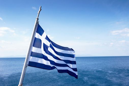 Here's more information about the history of the Greek flag.