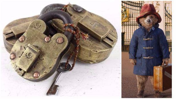 Scaramanga Padlock in Paddington 2 reported in the Insider. #padlock #vintage #paddington2 #press #movie #props