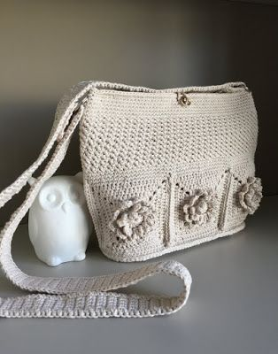 El Búho Crochet : Bolso Wildflower #crochet#bag