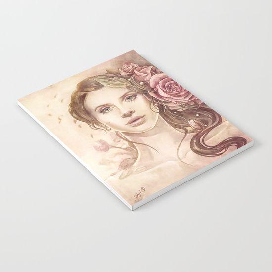 Summertime Notebook, portrait lana del rey    art by strijkdesign