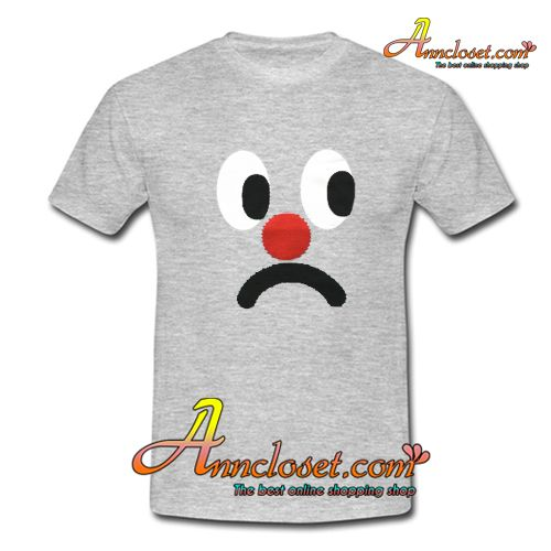 Sad Face T-Shirt from anncloset.com This t-shirt is Made To Order, one by one printed so we can control the quality.
