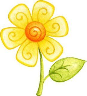 dibujos de flores de colores-Imagenes y dibujos para imprimir