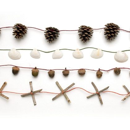 Simple Nature Craft - garlands made from natural materials.