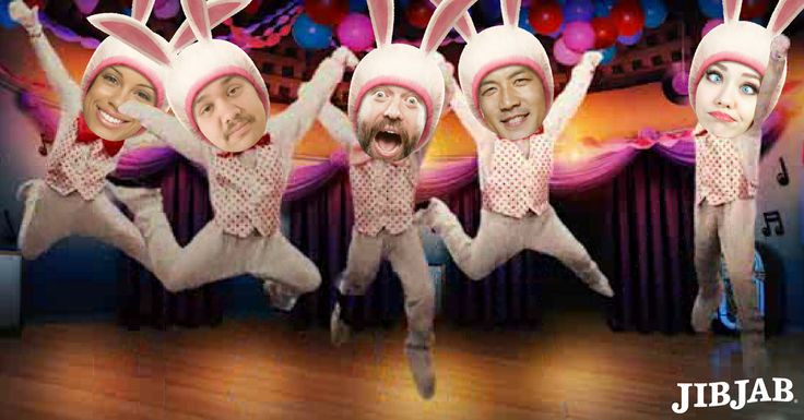 family & friends face in easter dancing videos movies, www jib jab. com  Hop to it!   Unlike a box of peeps, these cards won't last forever. Cast friends now!