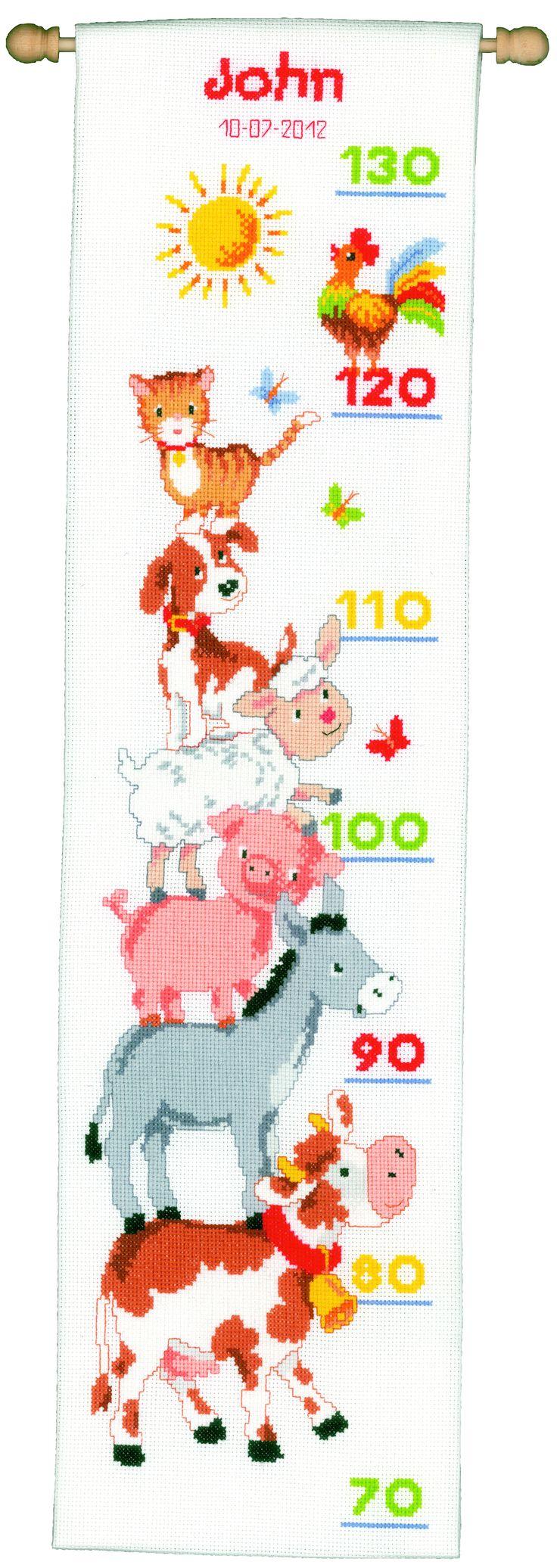 Metro baby animali fattoria punto croce