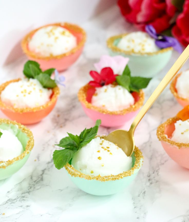 A Kailo Chic Life: Make It - Pastel And Gold Edible Dessert Bowls