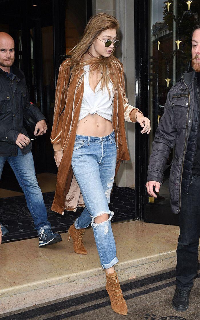 What Celebrities Are Wearing Instead of Skinny Jeans via @WhoWhatWear