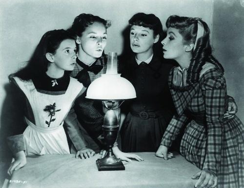 Margaret O'Brien, Janet Leigh, June Allyson and Elizabeth Taylor in Little Women (1949