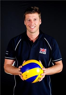 One of Great Britain men's volleyball team