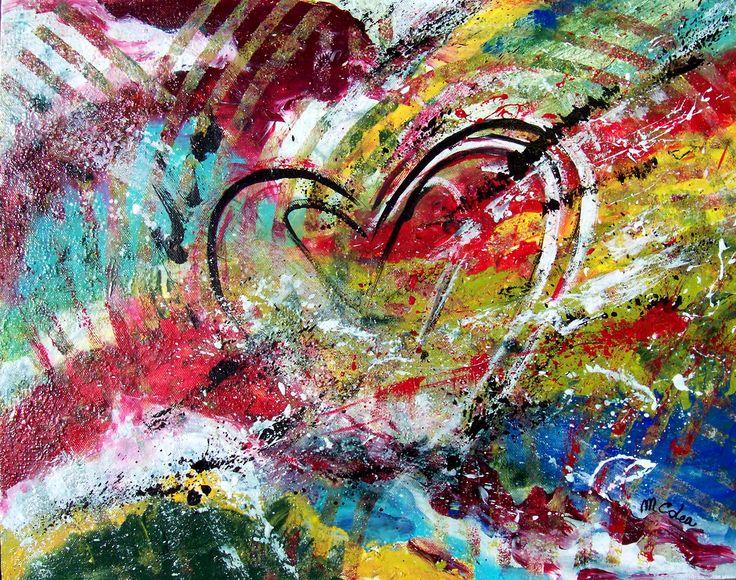 """""""Amore mutevole"""" -Acrilico 50x40 by M.Cristina De Amicis"""