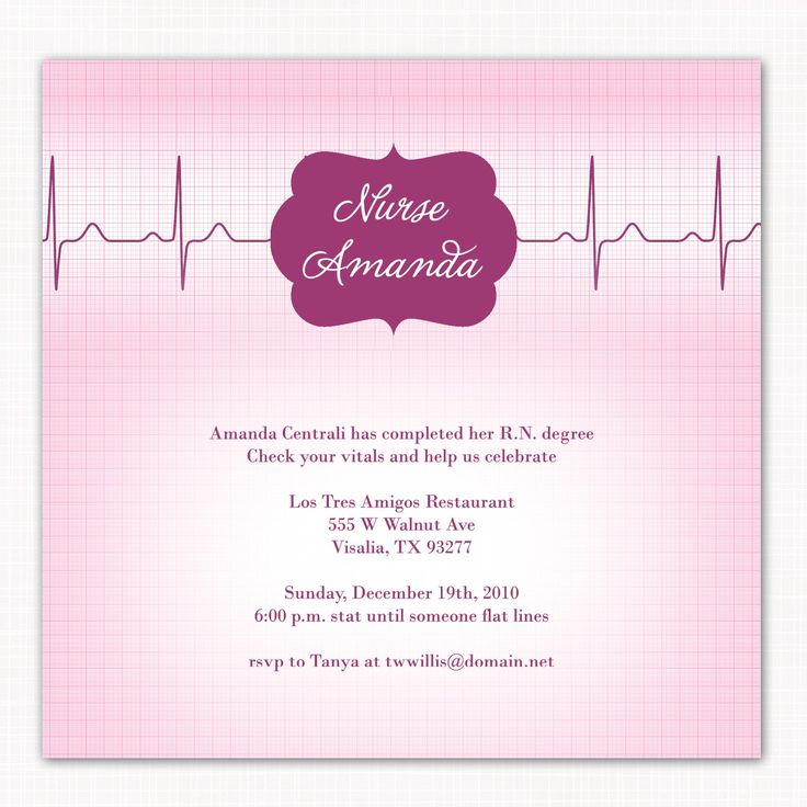 15 best Nursing Pinning Ceremony Invitations images – Graduation Invitation Maker
