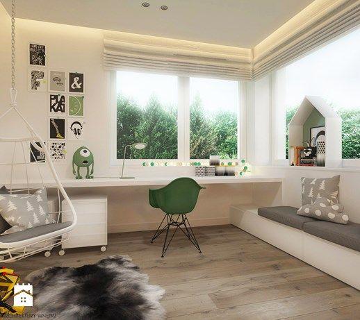 Pokoje dla nastolatków młodszych i najmłodszych - Pokój dziecka dla chłopca dla dziewczynki dla ucznia dla nastolatka, styl skandynawski - zdjęcie od ELEMENTY - Pracownia Architektury Wnętrz