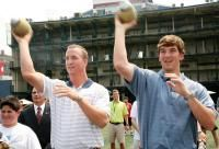 Archie, Peyton, and Eli Manning - article from Benjamin Hochman (Denver Post).  General info about the Mannings, their QB Camp, even mentions the Walk of Champions.