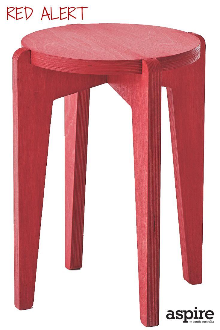 Robyn Wood red daisy stool $325 Brick+Mortar Creative http://www.brickandmortarcreative.com.au/  #Red #Stool #Shopping #Adelaide #SouthAustralia