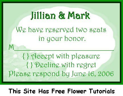 rsvp wording | Wedding RSVP Example - RSVP Wording | Wedding Ideas ...