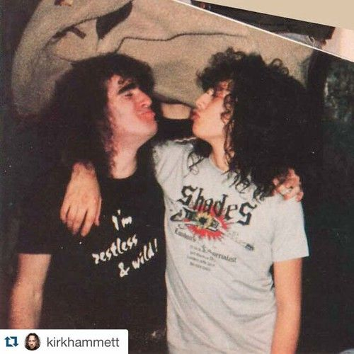 Scott Ian and Kirk Hammett