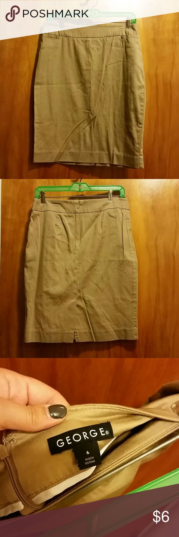 Khaki Pencil Skirt size 6 Khaki Pencil Skirt size 6, George brand, George Skirts Pencil