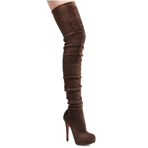 Femme Christian Louboutin Bottes in Brown, louboutins homme pas cher