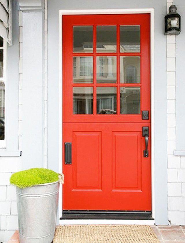 red color feng shui front door