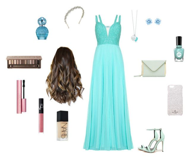 HOMECOMING OUTFIT by adrianaadd on Polyvore featuring moda, Fahrenheit, Swarovski, Tiffany & Co., Kate Spade, Jennifer Behr, Urban Decay, NARS Cosmetics, Too Faced Cosmetics and Marc Jacobs