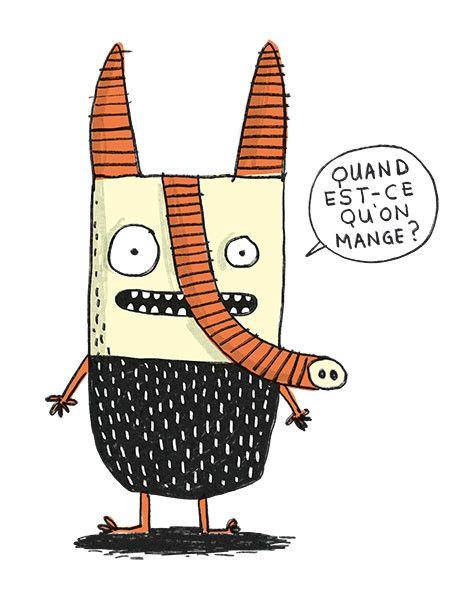 Elise Gravel Illustration • Cute monsters • Character design • art • drawing • children • funny