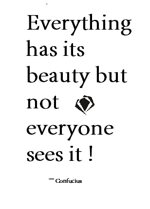 Confucius ~ beauty quote
