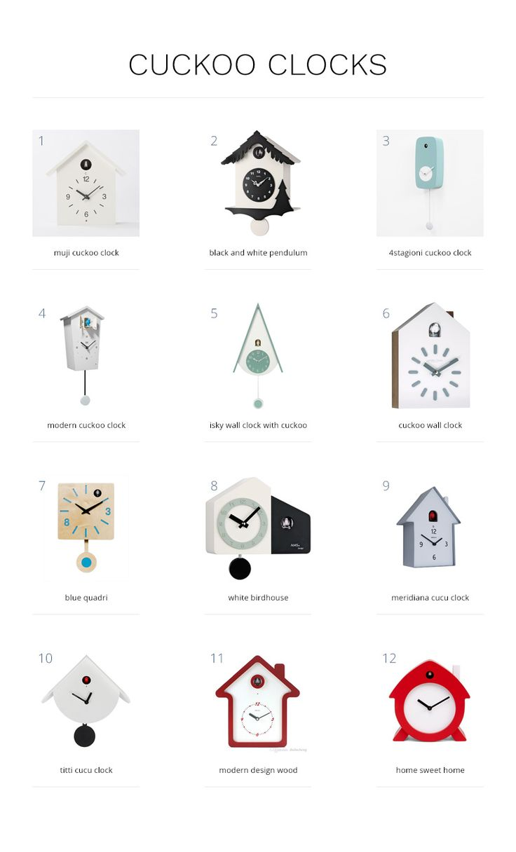 A collection of my favourite modern cuckoo clocks that fit effortlessly and playfully into any scandinavian-style coastal home.