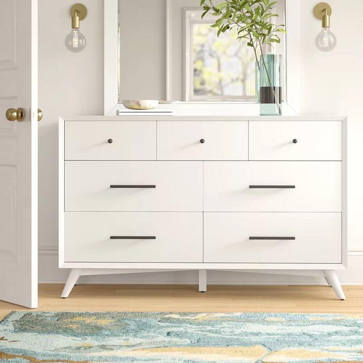 Parocela 7 Drawer Dresser In 2020 7 Drawer Dresser White Dresser Bedroom White Dresser