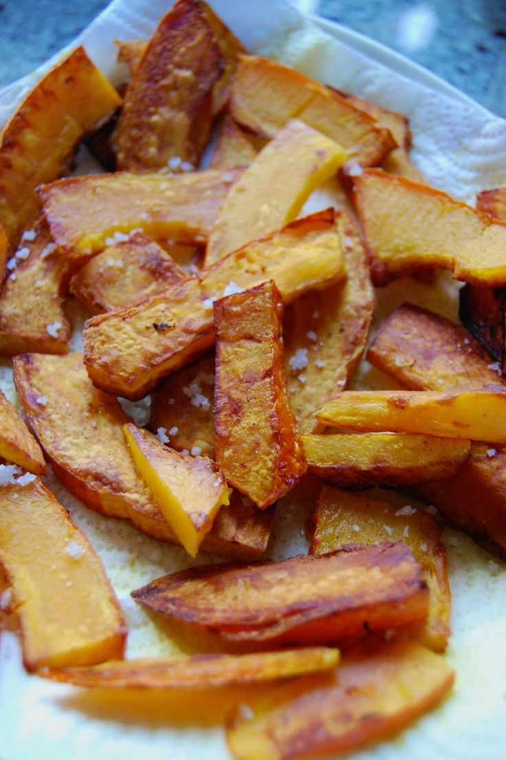 Parts de plaisir: Frites de potimarron