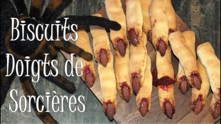 Recette de doigts de sorcière - Biscuits Faciles pour Halloween. Voici une recette de biscuits doigts de sorcière qui sont horriblement bons, super faciles et rapides à faire pour Halloween. Des biscuits sablés au beurre, effrayants, délicieux et croquants pour les petits et les grands :).