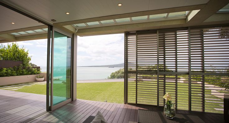 Louvretec Coastal Series sliding shutters are a great way to create an outdoor room, giving you the opportunity to have them closed for ultimate privacy and weather protection, or sliding them fully open to bring the outdoors in