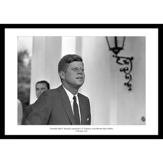 Great iconic shot of John F. Kennedy during his visit in Dublin. It was taken during his visit to the US embassy on the 27th of June 1963.